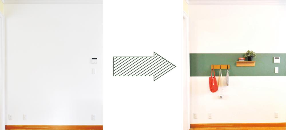 何も無い壁に・・・貼って塗るだけ壁にマグネットが付きます!