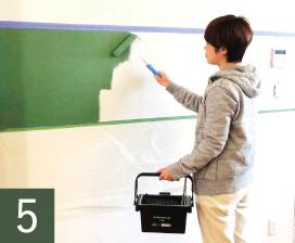 後はお好みの水性ペンキを塗るだけです。